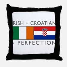 Irish Croatian flags Throw Pillow