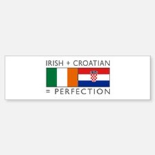 Irish Croatian flags Sticker (Bumper)