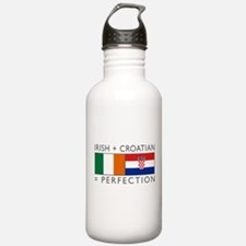 Irish Croatian flags Water Bottle