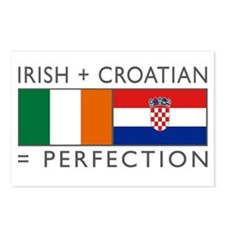 Irish Croatian flags Postcards (Package of 8)
