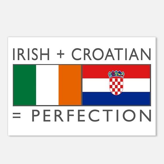 Irish Croatian flags Postcards (Package of 8)