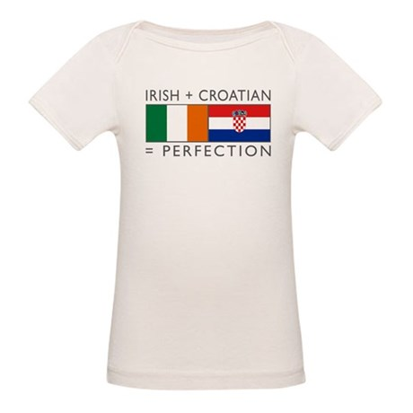Irish Croatian flags Organic Baby T-Shirt