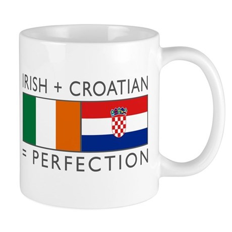 Irish Croatian flags Mug