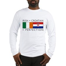 Irish Croatian flags Long Sleeve T-Shirt