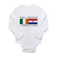 Irish Croatian flags Long Sleeve Infant Bodysuit