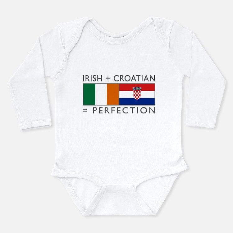 Irish Croatian flags Long Sleeve Infant Bodysuit