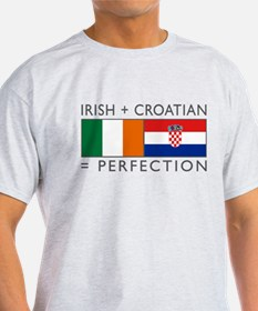 Irish Croatian flags T-Shirt