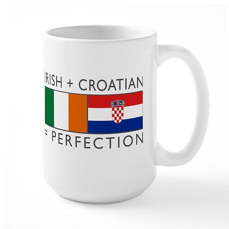 Irish Croatian flags Large Mug