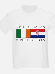 Irish Croatian flags T-Shirt