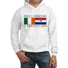 Irish Croatian flags Hoodie