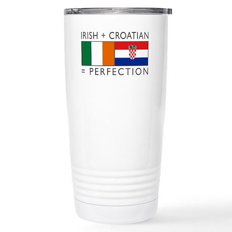 Irish Croatian flags Stainless Steel Travel Mug