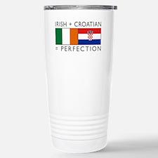 Irish Croatian flags Travel Mug