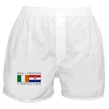 Irish Croatian flags Boxer Shorts
