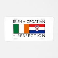 Irish Croatian flags Aluminum License Plate