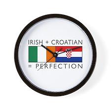 Irish Croatian flags Wall Clock