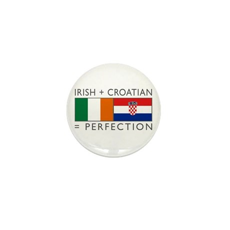 Irish Croatian flags Mini Button
