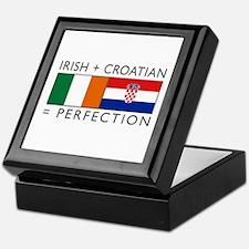 Irish Croatian flags Keepsake Box