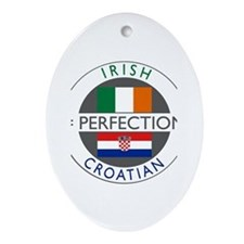 Irish Croatian flags Ornament (Oval)