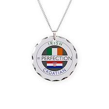 Irish Croatian flags Necklace