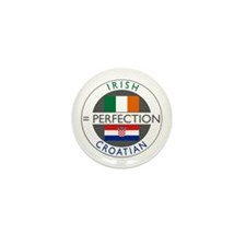 Irish Croatian flags Mini Button (10 pack)