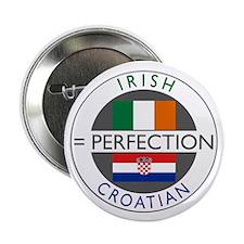 """Irish Croatian flags 2.25"""" Button (10 pack)"""