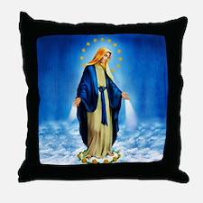 Cool Virgin mary Throw Pillow