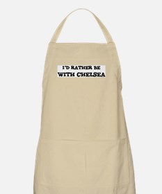 With Chelsea BBQ Apron