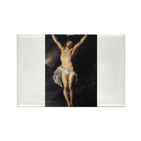 The Crucified Christ Rectangle Magnet
