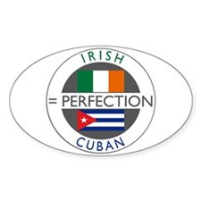 Irish Cuban heritage flags Decal