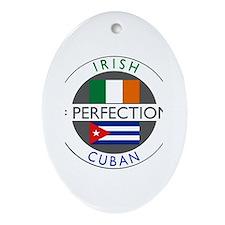 Irish Cuban heritage flags Ornament (Oval)