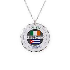 Irish Cuban heritage flags Necklace