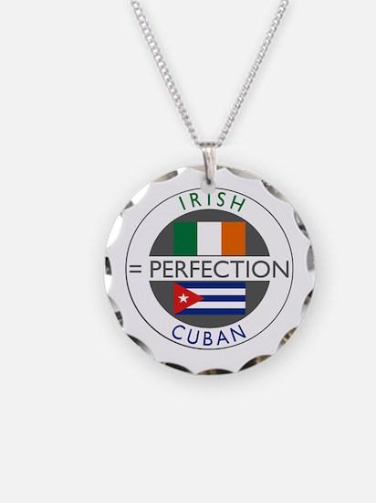 Irish Cuban heritage flags Necklace Circle Charm