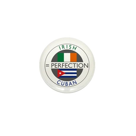 Irish Cuban heritage flags Mini Button
