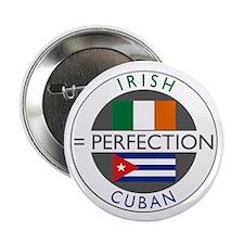 "Irish Cuban heritage flags 2.25"" Button (10 pack)"