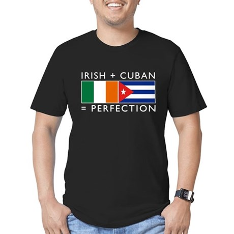 Irish Cuban heritage flags Men's Fitted T-Shirt (d