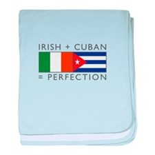 Irish Cuban heritage flags baby blanket