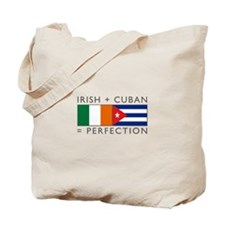 Irish Cuban heritage flags Tote Bag