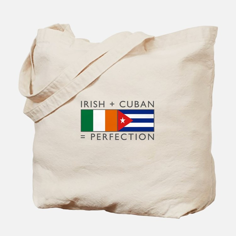 Irish Cuban heritage flags Tote Bag