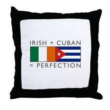 Irish Cuban heritage flags Throw Pillow
