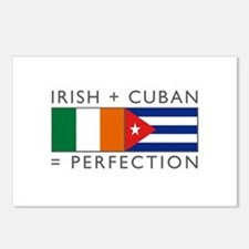 Irish Cuban heritage flags Postcards (Package of 8