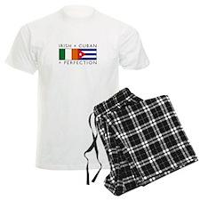 Irish Cuban heritage flags Pajamas