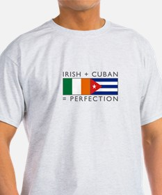 Irish Cuban heritage flags T-Shirt