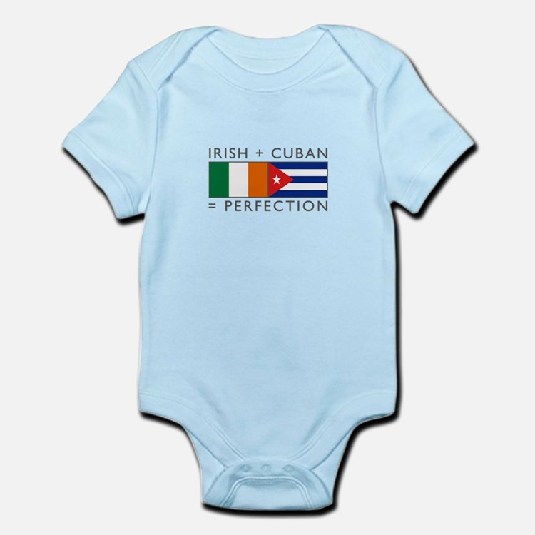 Irish Cuban heritage flags Infant Bodysuit