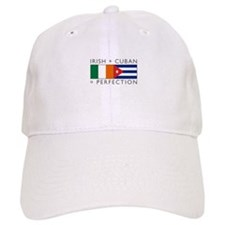 Irish Cuban heritage flags Baseball Cap