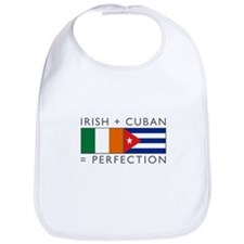 Irish Cuban heritage flags Bib
