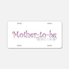 Mother-to-be 2012 Baby Girl Aluminum License Plate