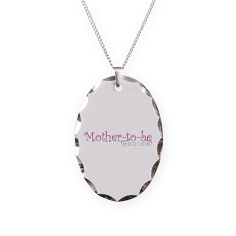 Mother-to-be 2012 Baby Girl Necklace Oval Charm