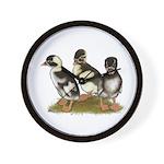 Emery Penciled Runner Ducklin Wall Clock