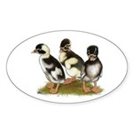 Emery Penciled Runner Ducklin Sticker (Oval 50 pk)