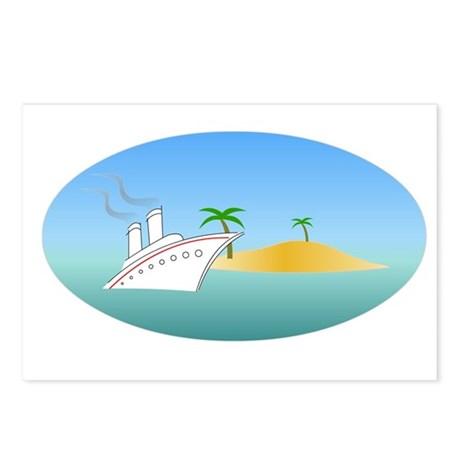 Island Cruise Postcards (Package of 8)